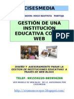 Gestion de Una Institucion Educativa Con La Web
