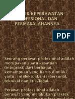 Praktik Keperawatan Profesional dan permasalahannya