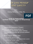 Konsep Dan Prinsip Patient Safety 2015