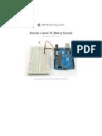 Adafruit Arduino Lesson 10 Making Sounds