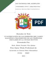 TEsis Normita 2014 - CUANTIFICACION DE LAS EMISIONES DEL CAMPO MAGNETICO PROCEDENTES DE LOS TELEFONOS CELULARES EN LA CIUDAD DE PUNO