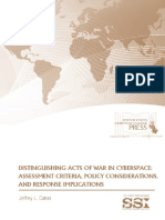 Distinguishing Acts of War in Cyberspace
