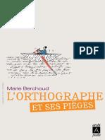 L'Orthographe Et Ses Pièges - Archipel
