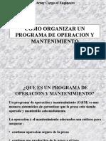 Org de Programa Operacion Mant Presas Us Army Corps Eng