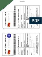 RRB Postal Challan
