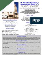 St. Peter the Apostle Bulletin 1-10-16