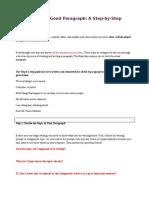 Paragrpah Writing Assignment - 4.1.16