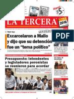 Diario La Tercera 06.01.2016