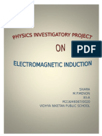 Physics Investigatory on electromagnetic induction
