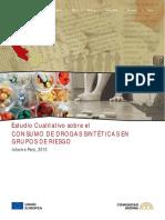 Estudio Cualitativo sobre el Consumo de Drogas Sintéticas en Grupos de Riesgo, Informe Perú, 2010