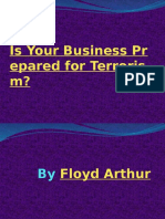 Is Your Business Prepared for Terrorism By Floyd Arthur Business Insurance Hempstead New York Presentation