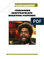 Overcoming Inappropriate Behavior Patterns