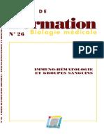 hematologie et groupes sanguins