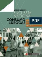 Informe Ejecutivo Encuesta Nacional sobre Consumo de Drogas en la Población General del Perú 2010