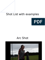 shot list with examples