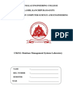 Dbms Lab Manual1