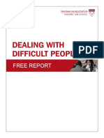 Difficult People - Free Report from Harvard Law School