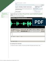 Synchronizing an Already Made Transcript [VisualSubSync]