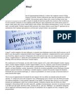 Perché Aprire El Blog?