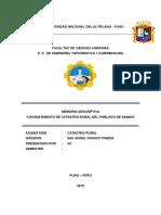 trabajo de descripcion del proyecto de linderacion del catastro del distrito de saman 2014 predios 1