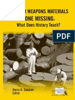 Nuclear Weapons Materials Gone Missing