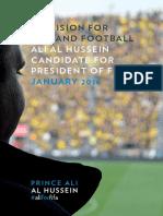 Prince Ali Al Hussein Manifesto  FIFA PRESIDENCY