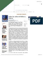 Sobre Los Cultos de Bolívar y Chávez, ELÍAS PINO ITURRIETA