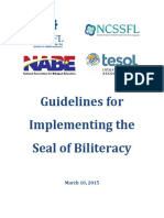 Seal of Biliteracy Approved Guidelines