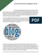 Come Creare El Blog Gratis Electronic Guadagnare On the internet