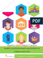 2015 Report Card Alberta Children Food Nutrition
