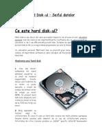 Hard Disk-ul(Referat Informatica)