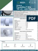 Parabólica UHP - 180cm - 7 GHz - Com Radome