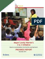 Progress report on city reading initiatives