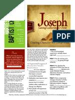 Joseph 8 Gen 39-6-10 Handout 011016