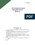 hush portfolio project website
