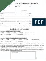 Bulletin d'adhésion et abonnement Marché sur l'Eau