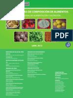 Tablas Peruanas Composición Alimentos 2013