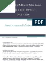 Pereti Structurali de b.a.- 2015-2016 C1 Si C2