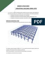 Design of Industrial Building Using ETABS
