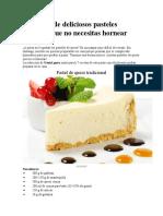 7 Recetas de Chesse Cake Sin Horno