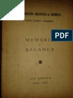 Memoria y Balance CAD-COA, 1949-50
