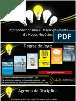 Empreendedorismo  - Apresentação - Aula 1