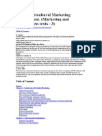 Global Agricultural Marketing Management