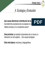 Ecología - Tema 4 Ecología y Evolución