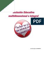 Inclusión Educativa Multidimensional y Orgánica