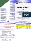 Bahamas Customs Duty 2015