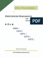 1100-Griechische Dokumente - Einleitungsnotizen