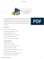 FICO Configuration (Training)