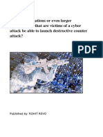 Should cyber attack victims launch counter attacks?
