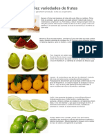 Benefícios de Dez Variedades de Frutas